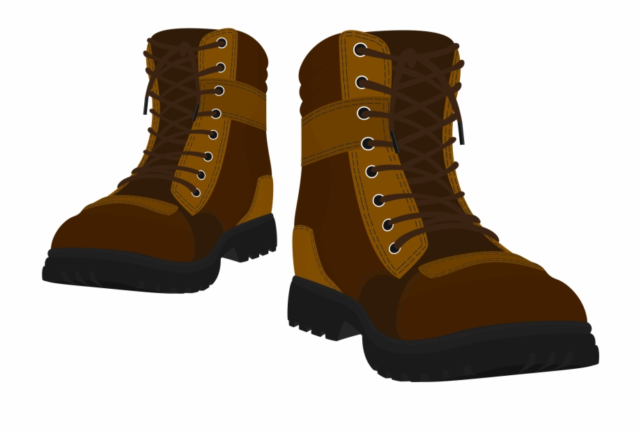 Brown Male Boots Png Clipart.