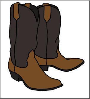 Clip Art: Western Theme: Cowboy Boots Color I abcteach.com.