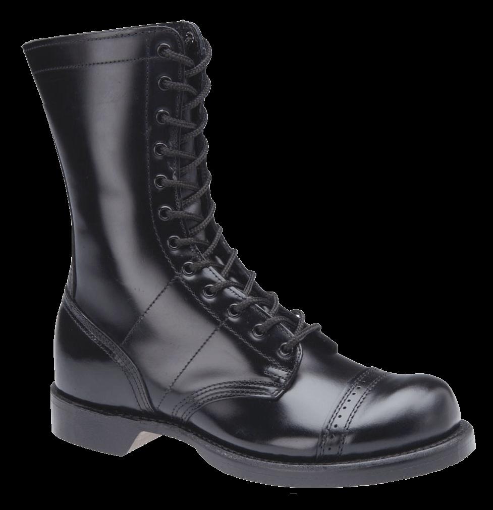 Lady Black Boots transparent PNG.