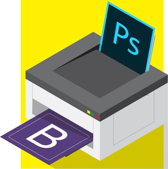 psd convert to bootstrap 4.