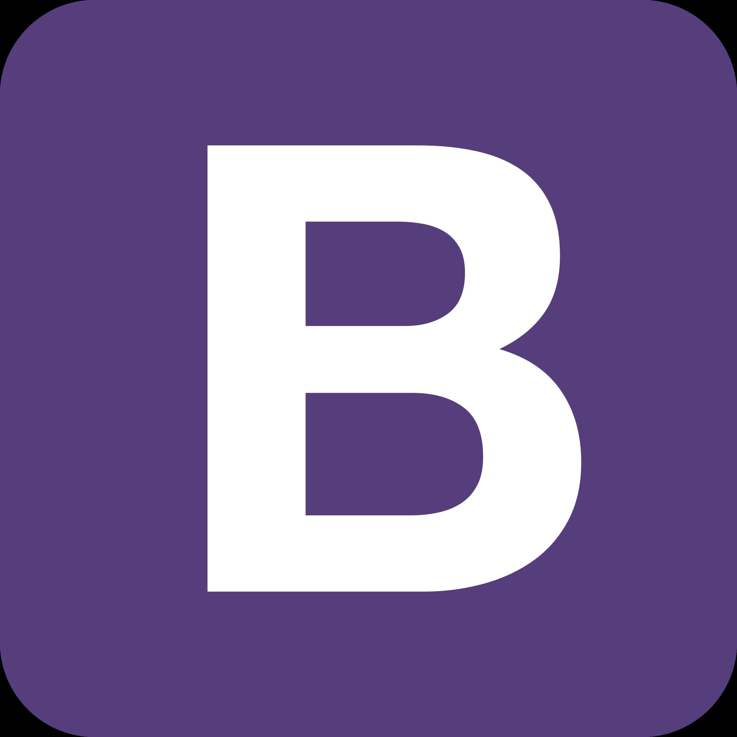 Bootstrap Logo PNG Transparent & SVG Vector.