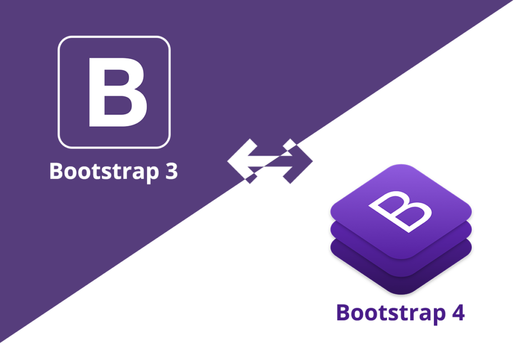 Difference between Bootstrap 3 and Bootstrap 4.