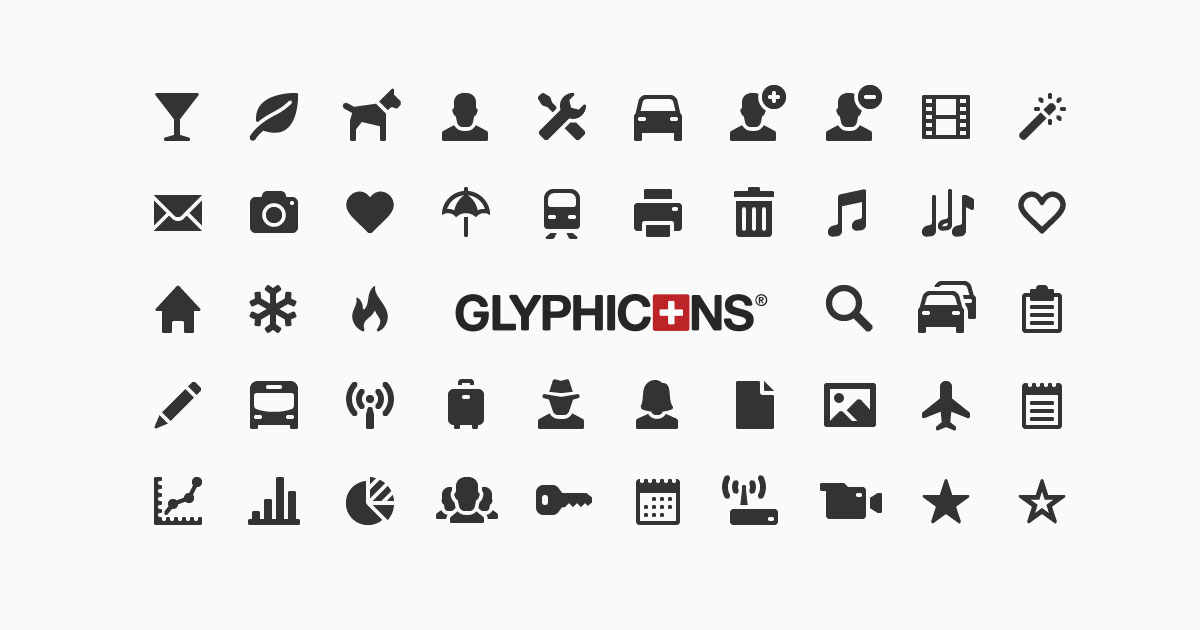 Sharp and clean symbols.
