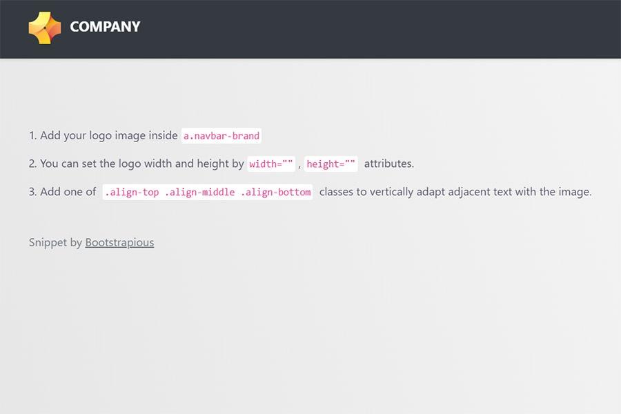 Bootstrap navbar with logo.