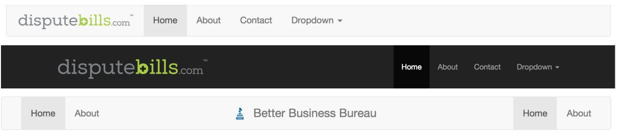 Bootstrap 3 Navbar with Logo.