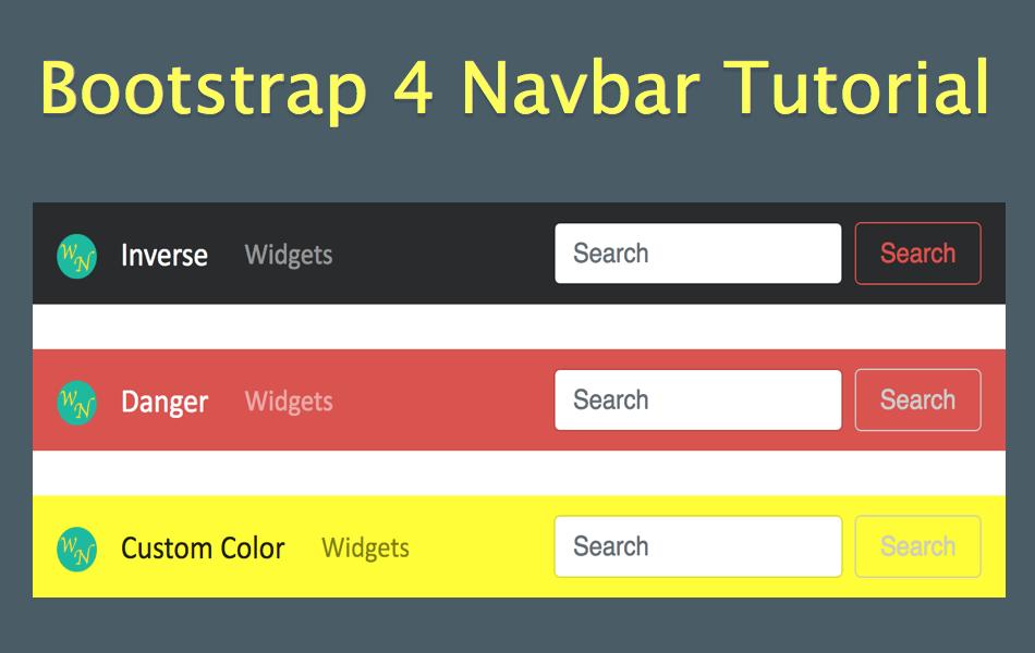 Bootstrap 4 Navbar Tutorial » WebNots.