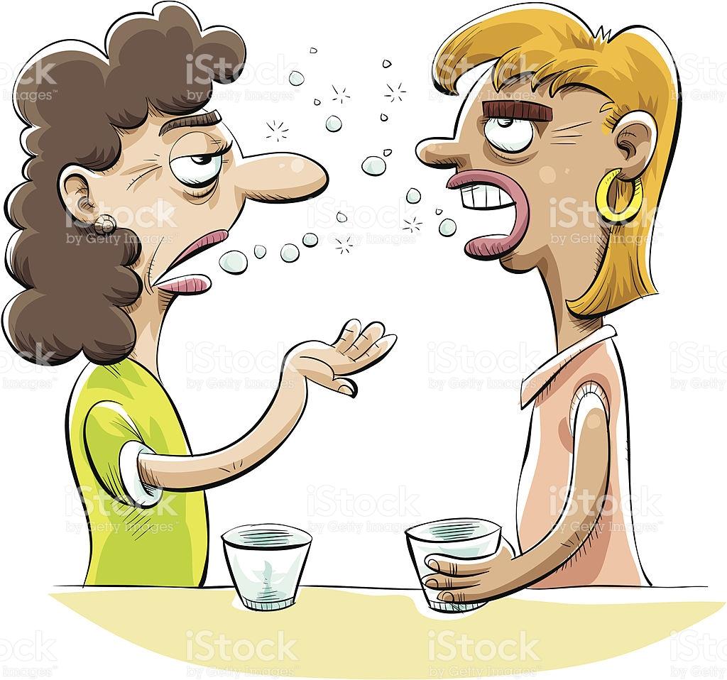 Boozy Gossip stock vector art 165743854.