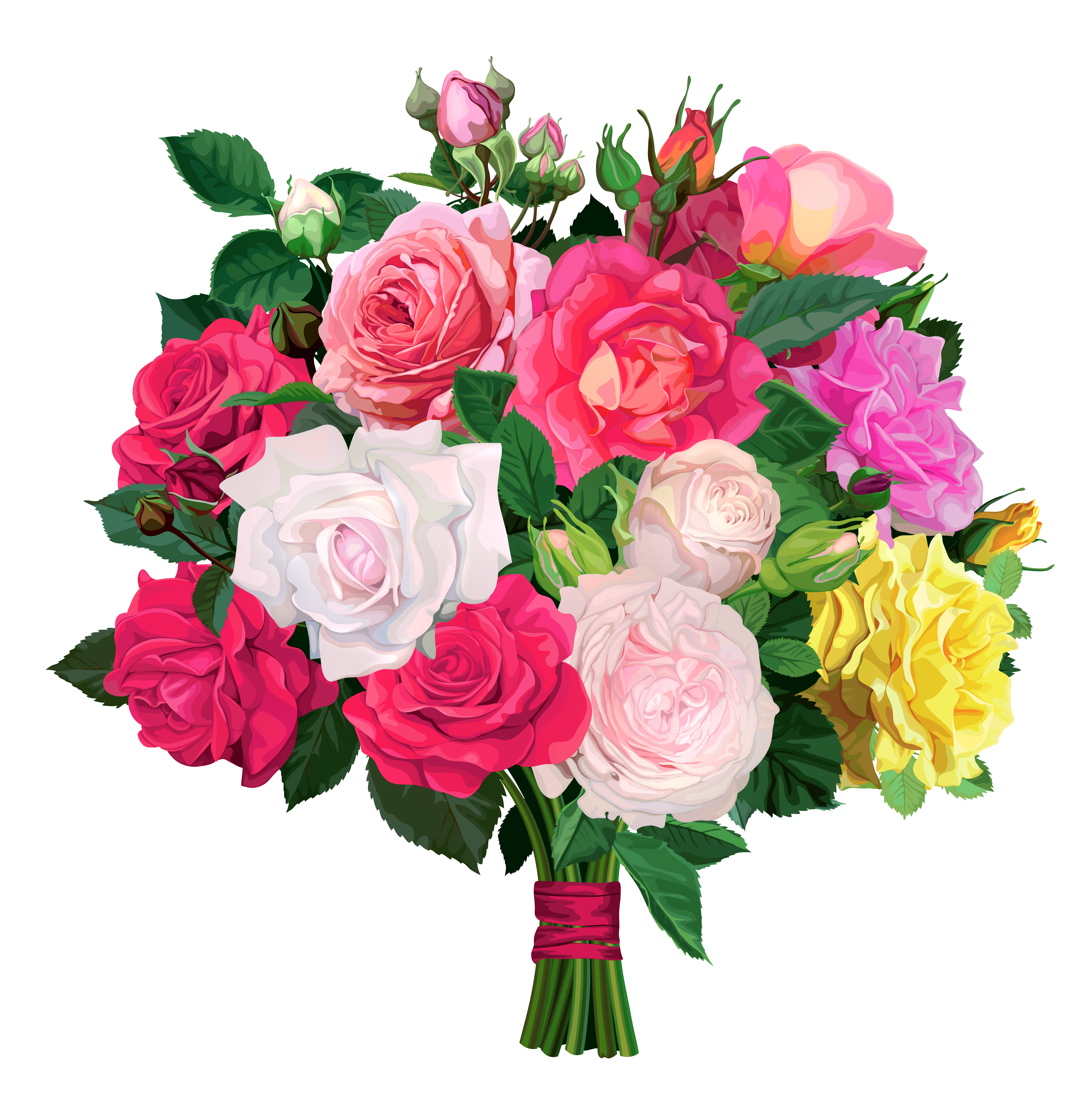 Flower bouquet clipart no background.