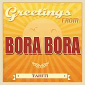 Bora Bora Clip Art.