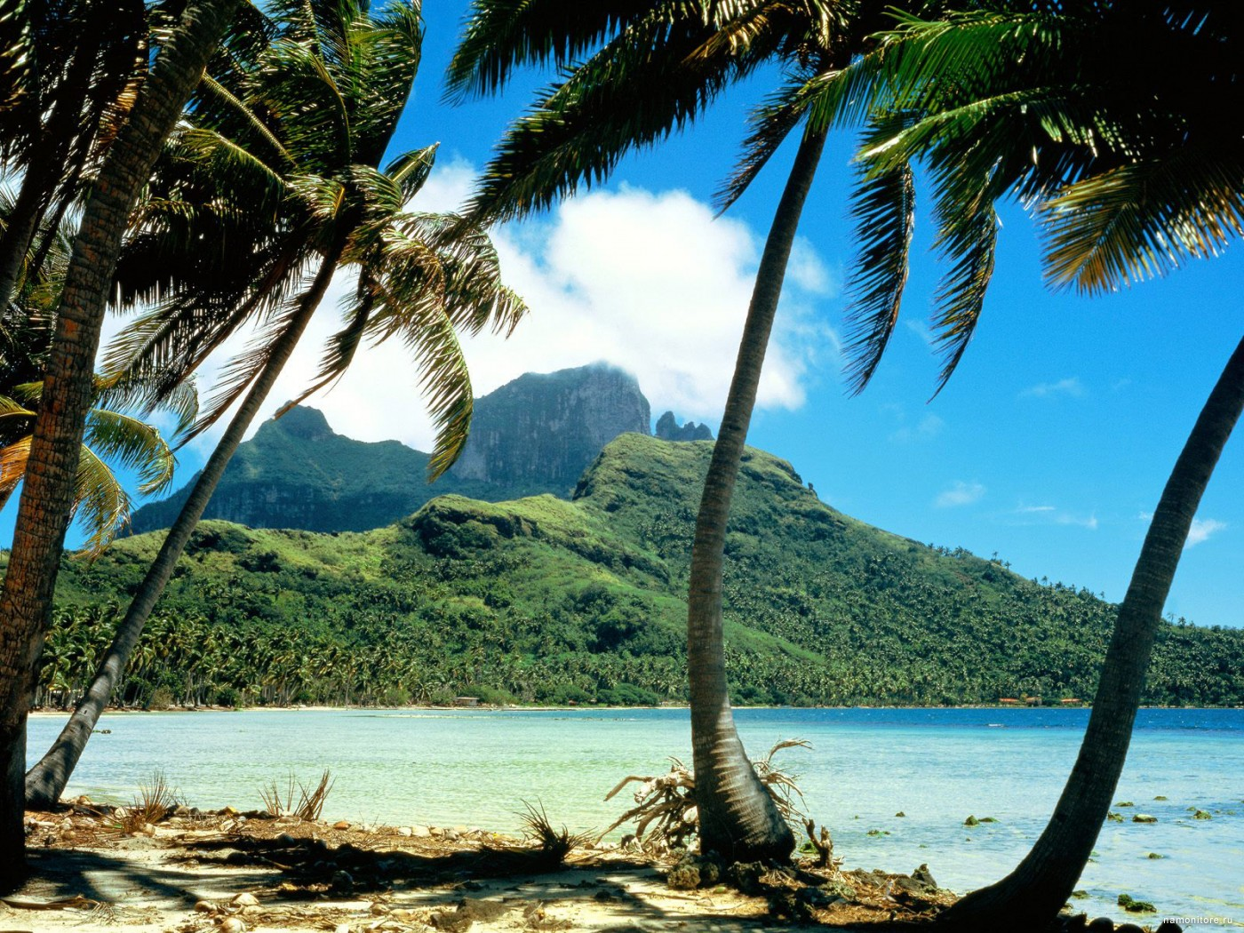 French Polynesia, an island Bora Bora, clipart, coast, island.