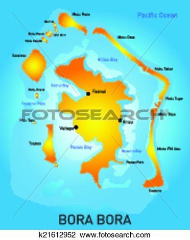 Clipart of Bora Bora k21612952.