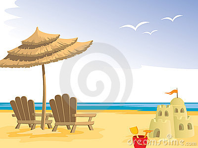 Sandcastle Stock Illustrations.