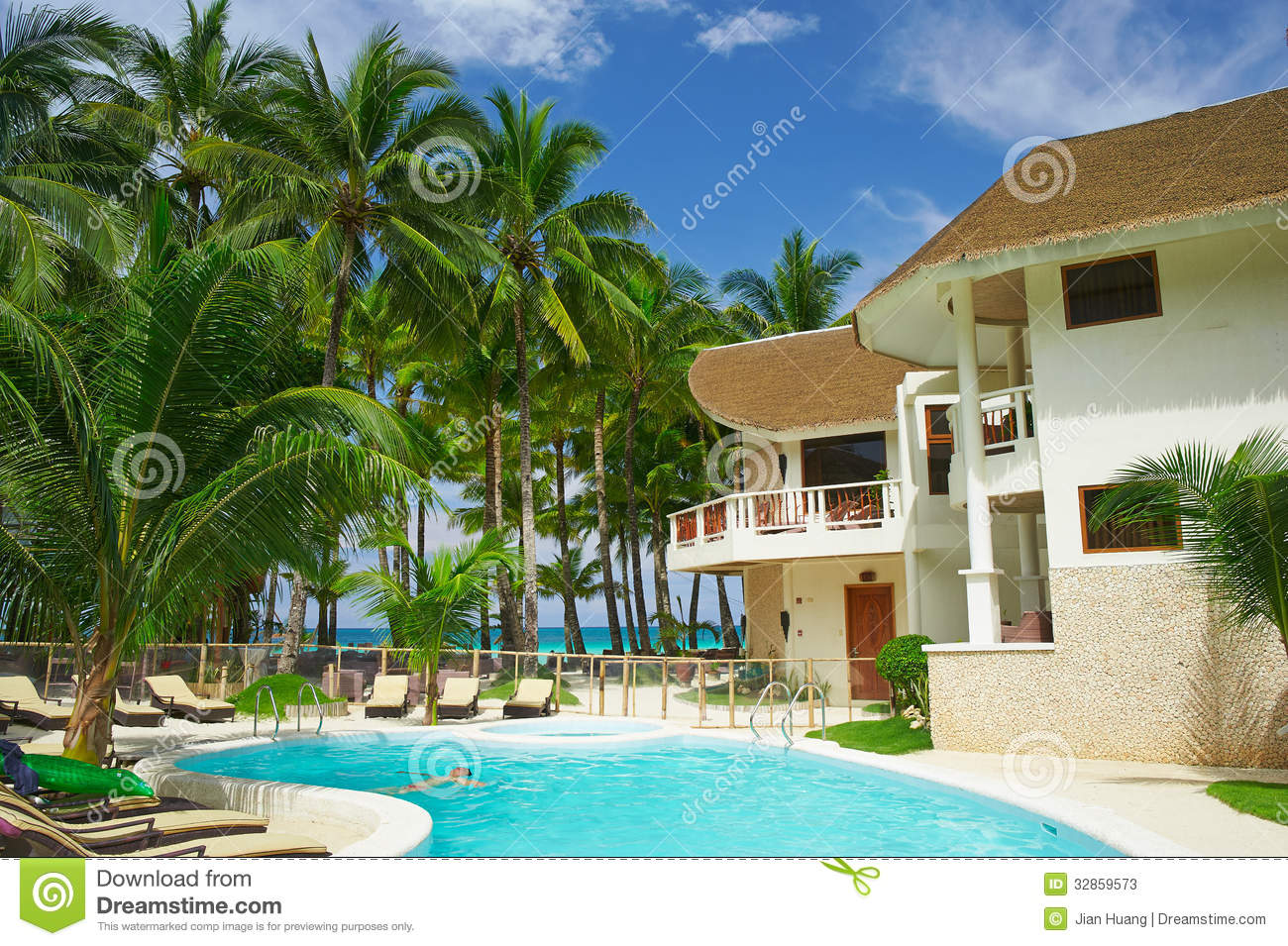 Hotel Tropical Environment Travel In Philippines Boracay Island.
