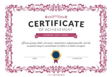 Certificado Vetores gratis para baixar.