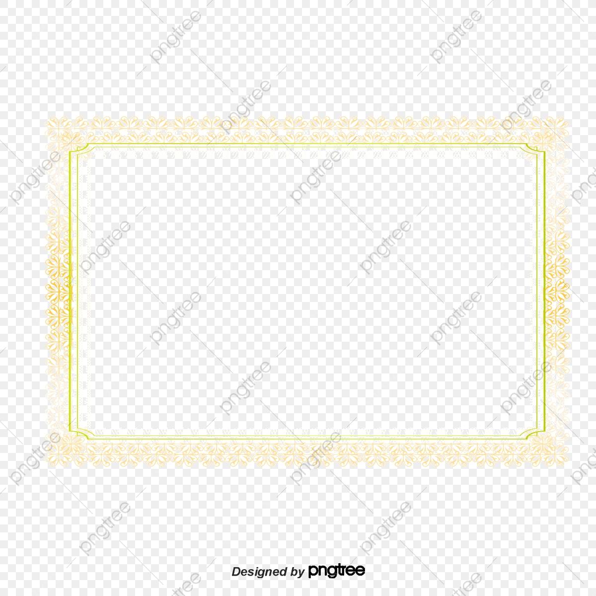 Vector Diagram Certificado Borda Moldura Amarela Sombreamento.