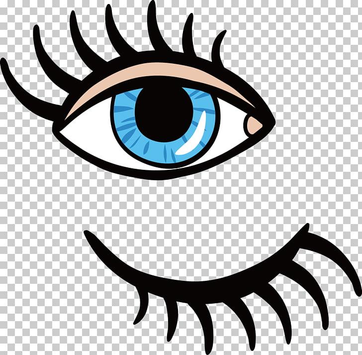 Eyelash Bordado de lentejuelas, Eyes and eyelashes PNG.