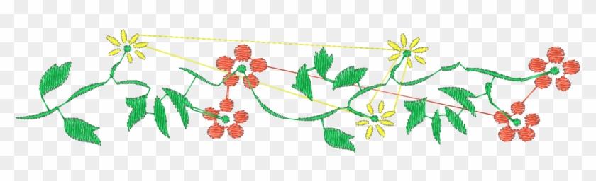 Bordado De Flores Pequeñas, HD Png Download.