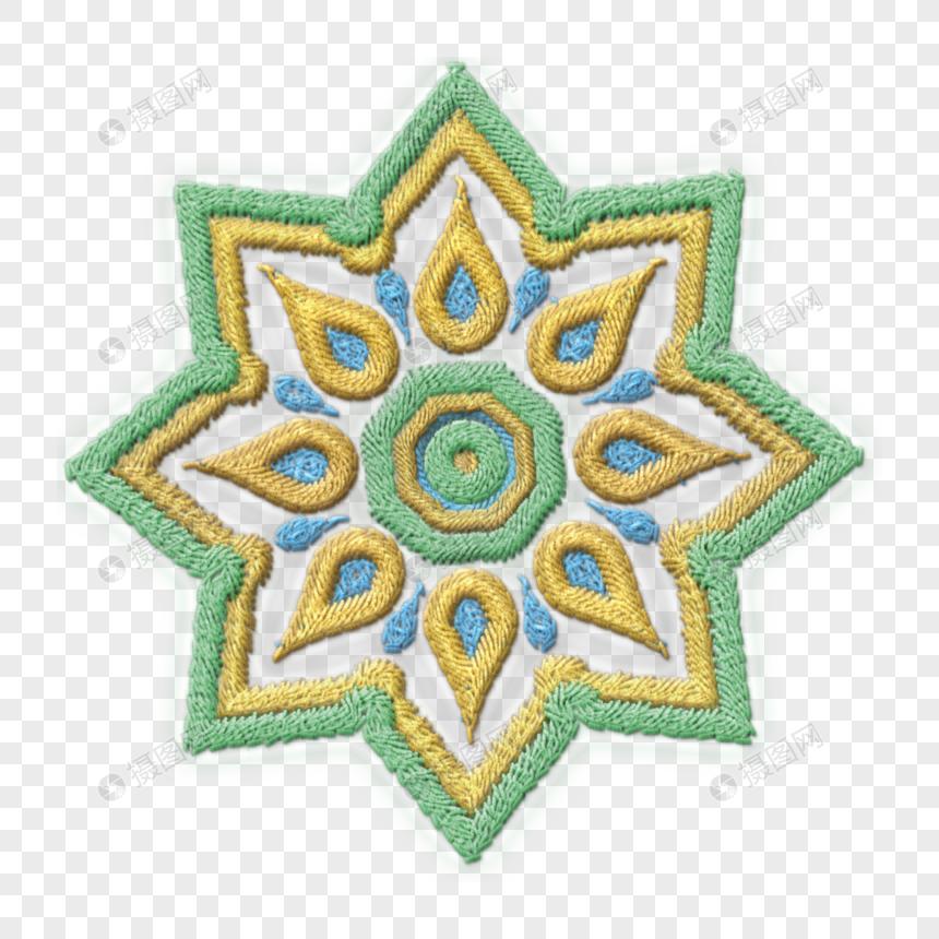 bordado de patrones gráficos pintados a mano Imagen Descargar_PRF.