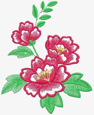 Patrones De Bordado, Decoracion De Flores Patrón, Flor, Bordado.
