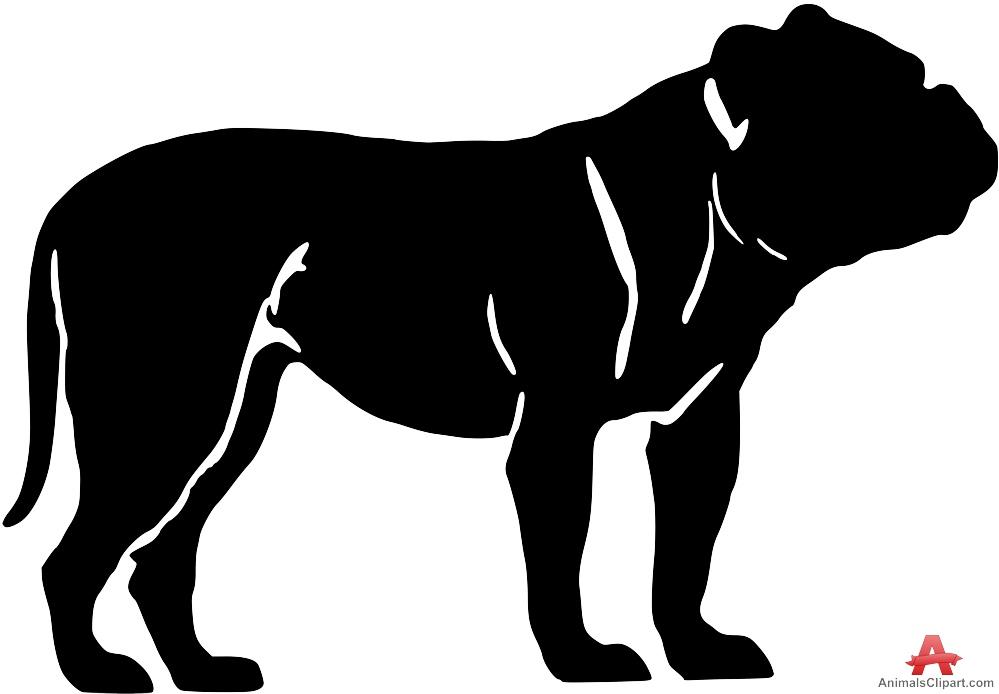 Dogue De Bordeaux Dog Silhouette.