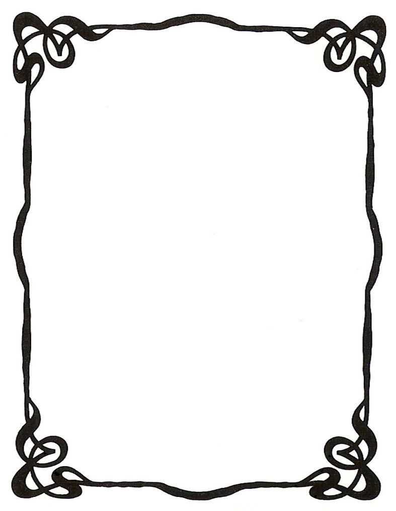 Free vintage clip art images: Calligraphic frames and borders.