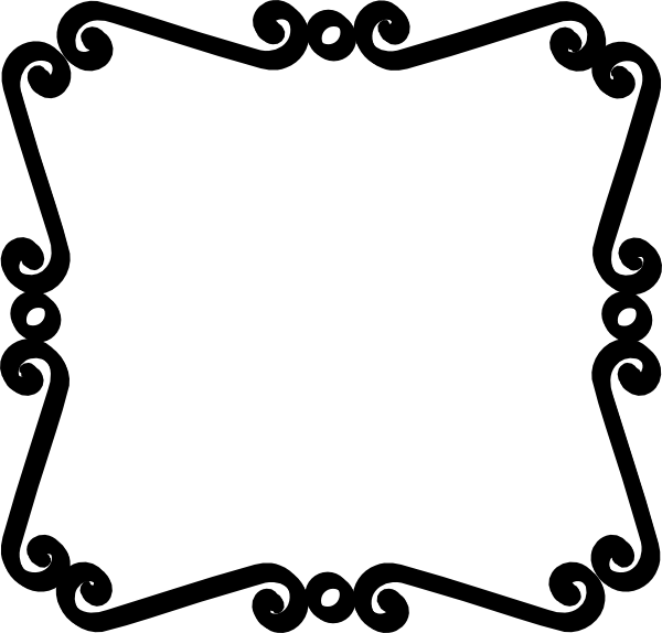 Cute Black And White Border Clipart.