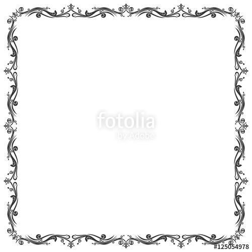Frame Batik and Abstract Border