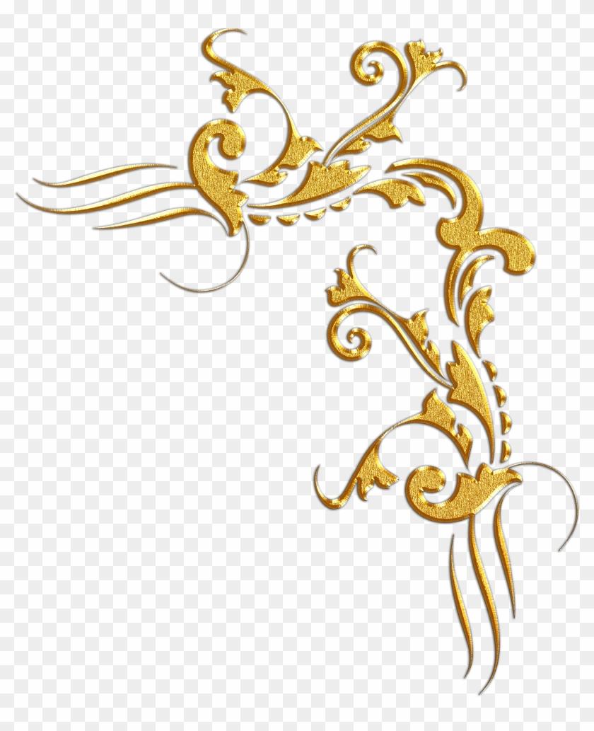 Transparent Gold Corner Border , Png Download.