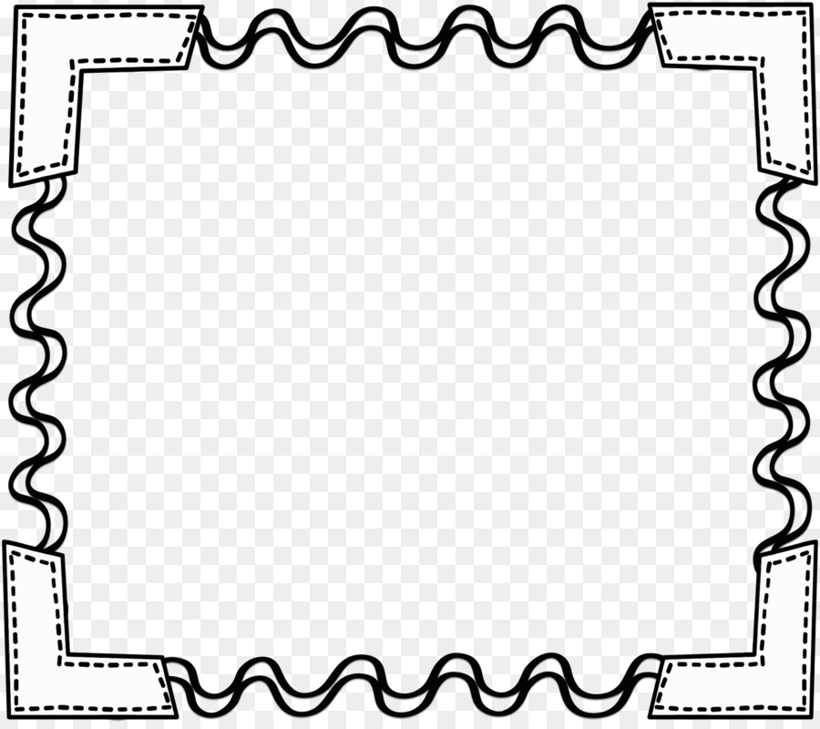 Border Black And White png download.