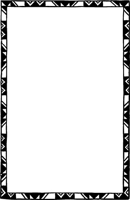 Black Border Frame PNG Clipart Vector, C #137733.