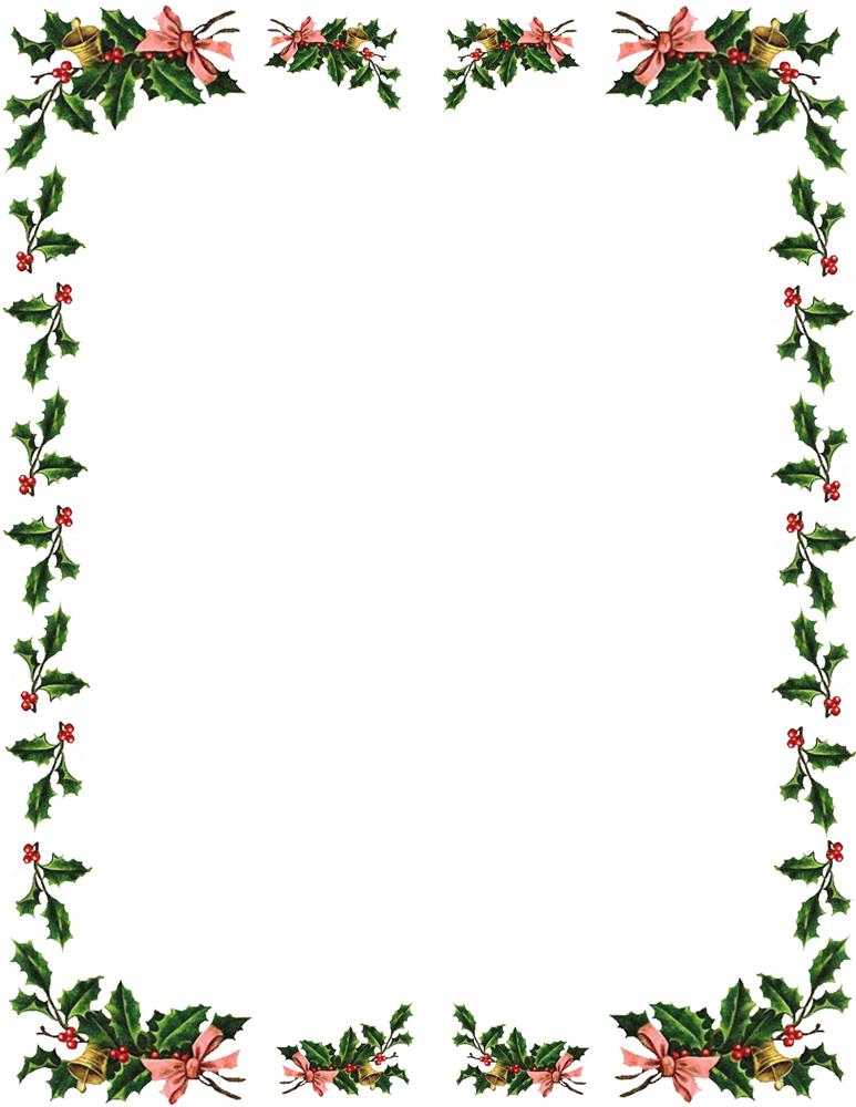 christmas border clipart free #11