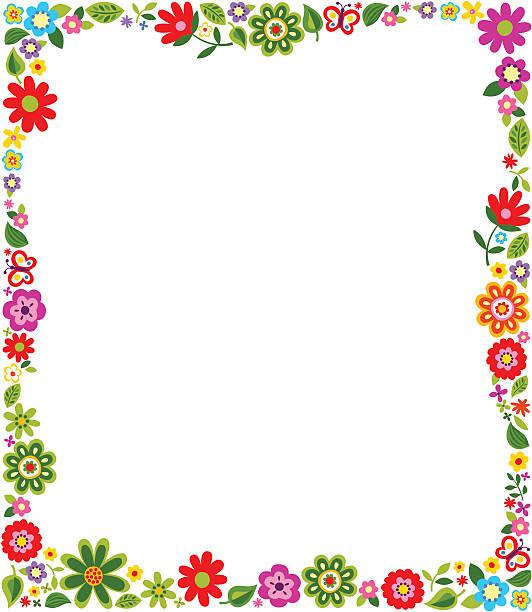 Best Flower Border Illustrations, Royalty.