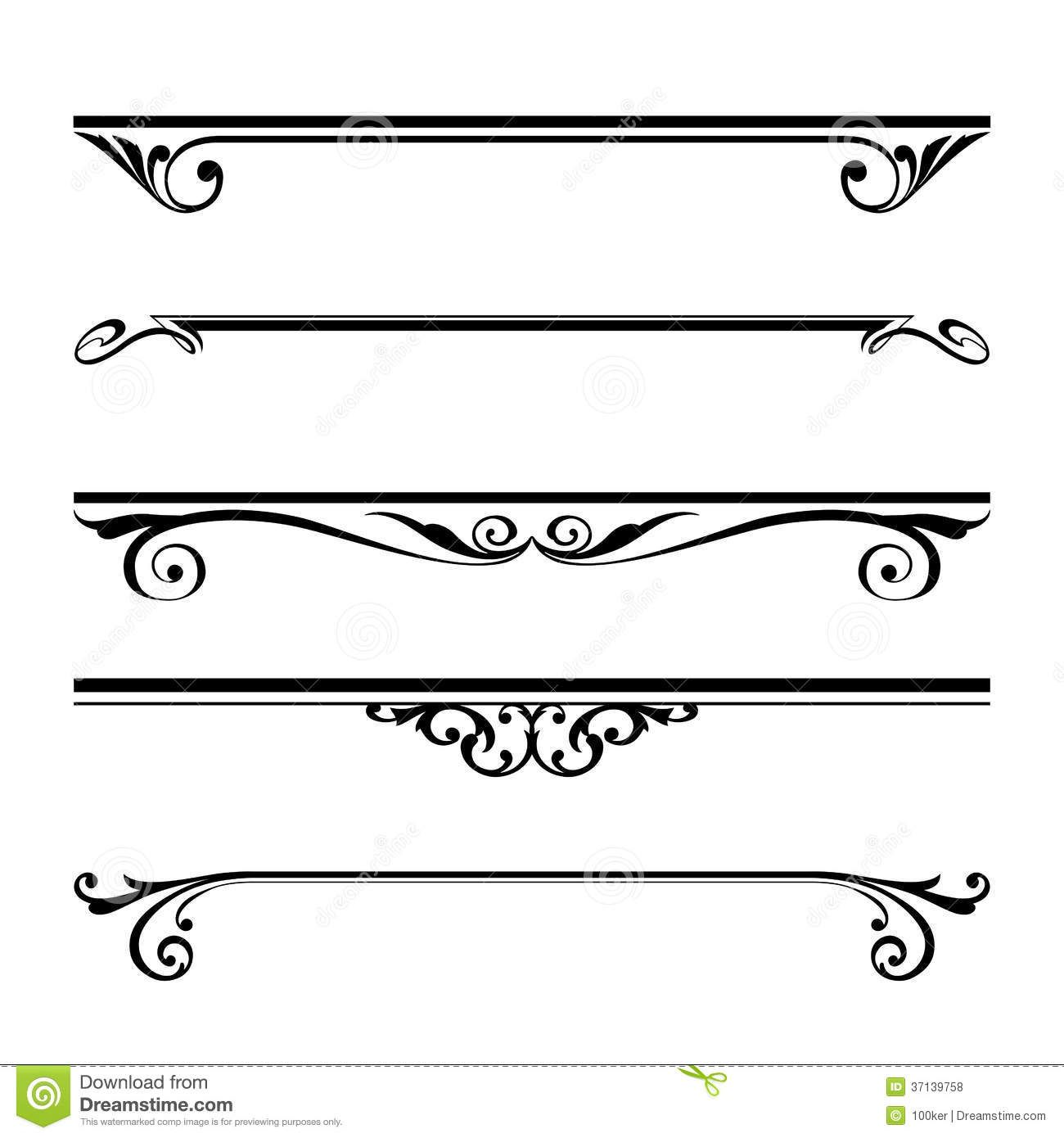 Decorative Elements, Border And Page Rules Royalty Free Stock Photos.