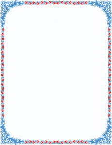 Heart Deco Border Frame Color Clip Art Download.