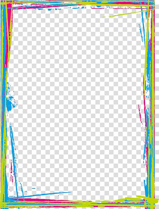 Multicolored border , Color Gold Computer file, Colored.