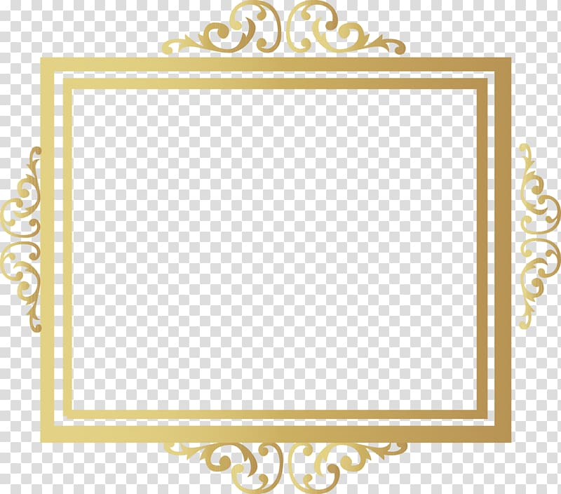 Gold ornamental frame , Microsoft PowerPoint Template Presentation.