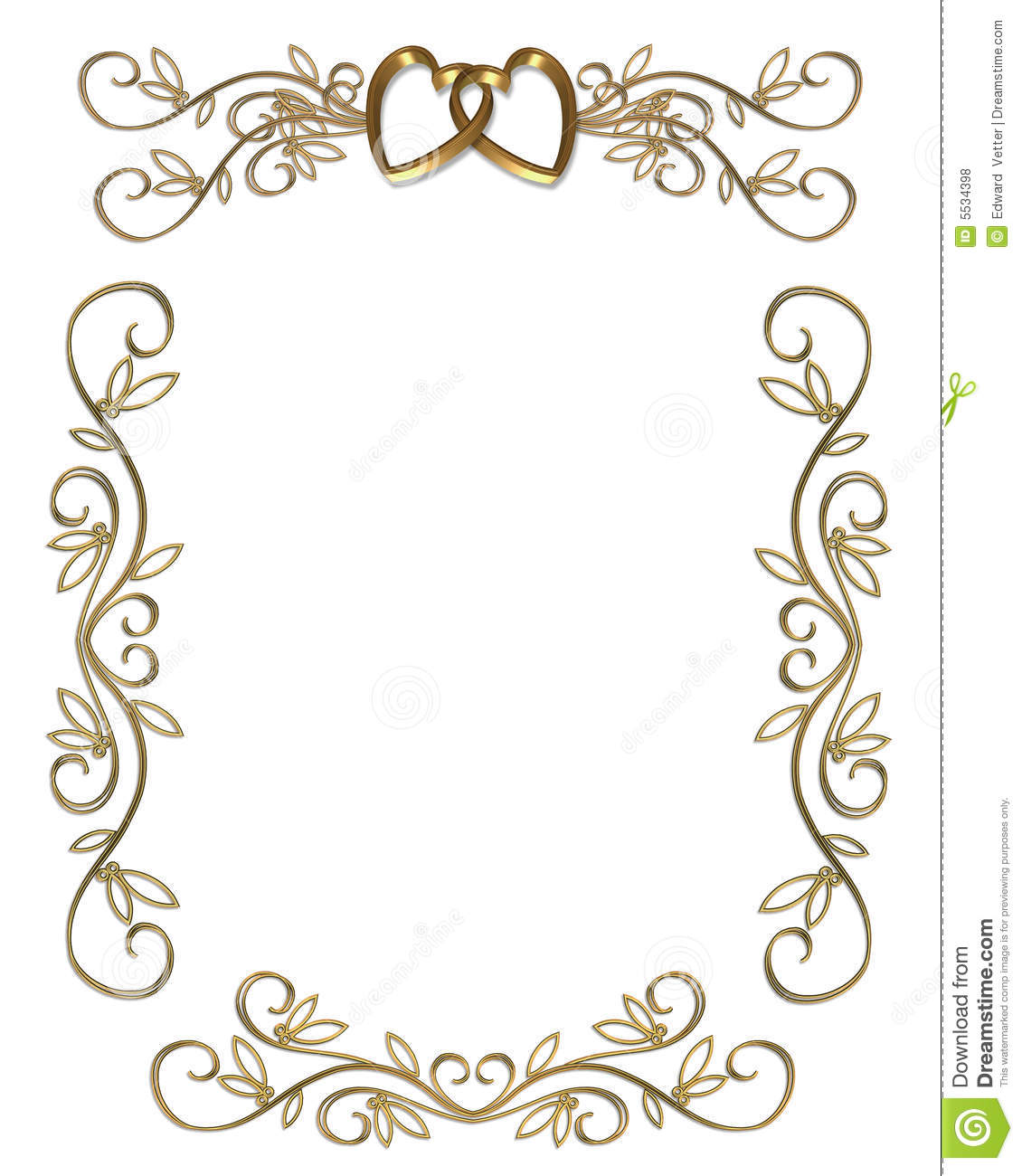Border clipart for wedding invitation 6 » Clipart Station.