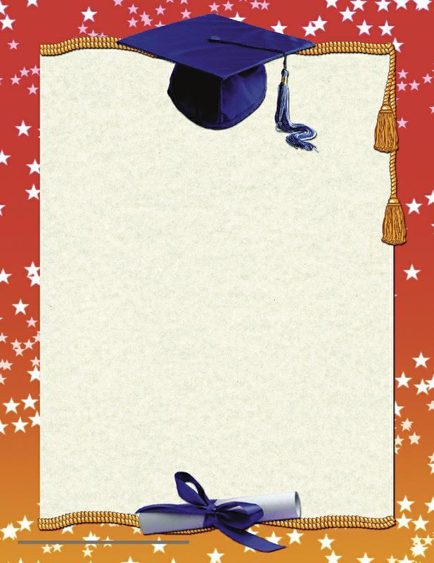 graduation page border.