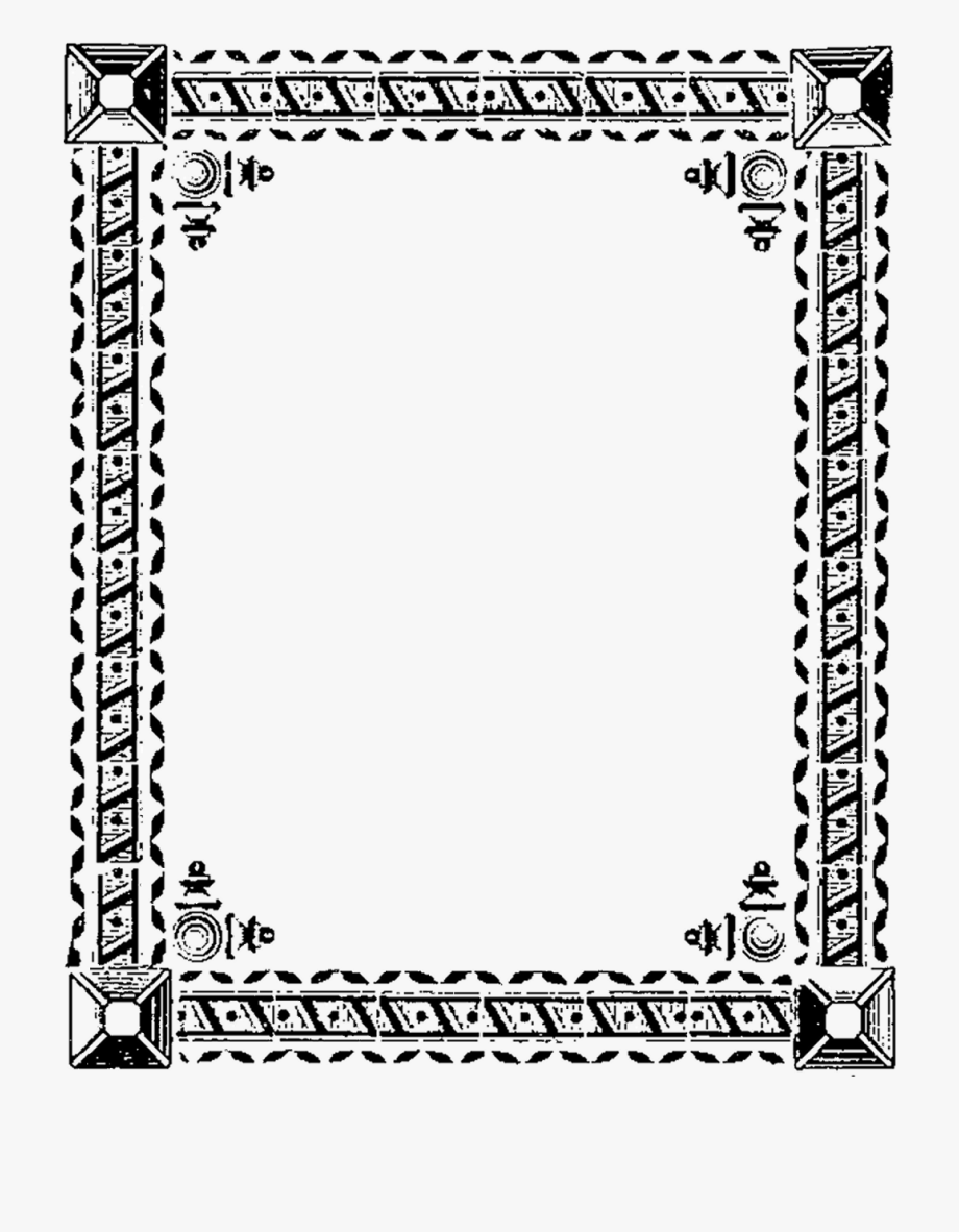 Digital Stamp Design Printable Borders Decorative Stock.