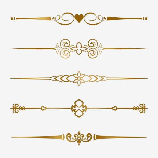 Gold Border Clipart Png, European Gold Borders, Golden Borders.