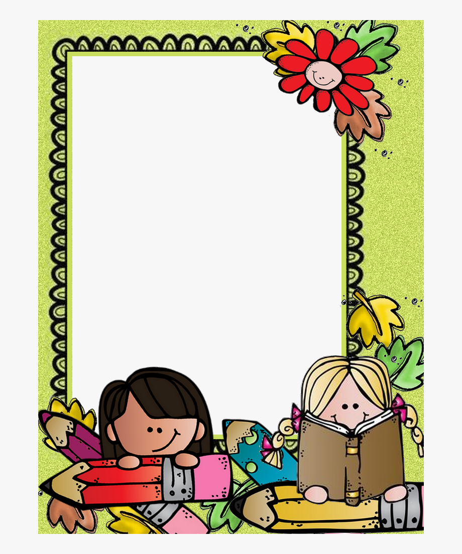 Melonheadz School Border Clipart , Transparent Cartoon, Free.