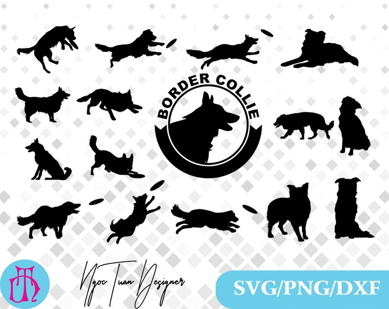 Border Collie svg,png,dxf/Border Collie clipart for  Design,Print,Silhouette,Cricut and any more.
