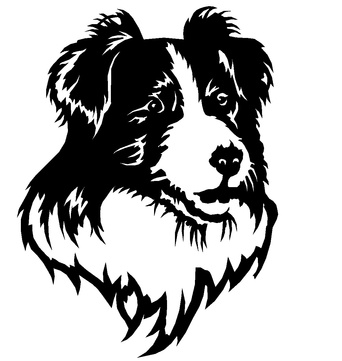 Free Border Collie Outline, Download Free Clip Art, Free Clip Art on.