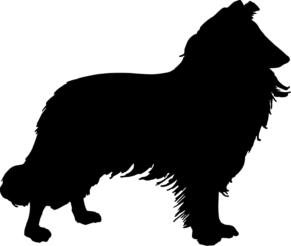 collie silhouette.