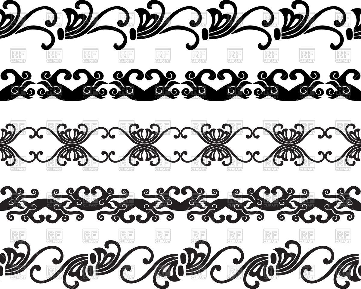 Set of decorative borders Stock Vector Image.