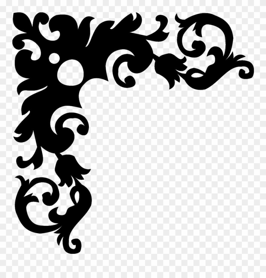 Black And White Flower Borders Design.