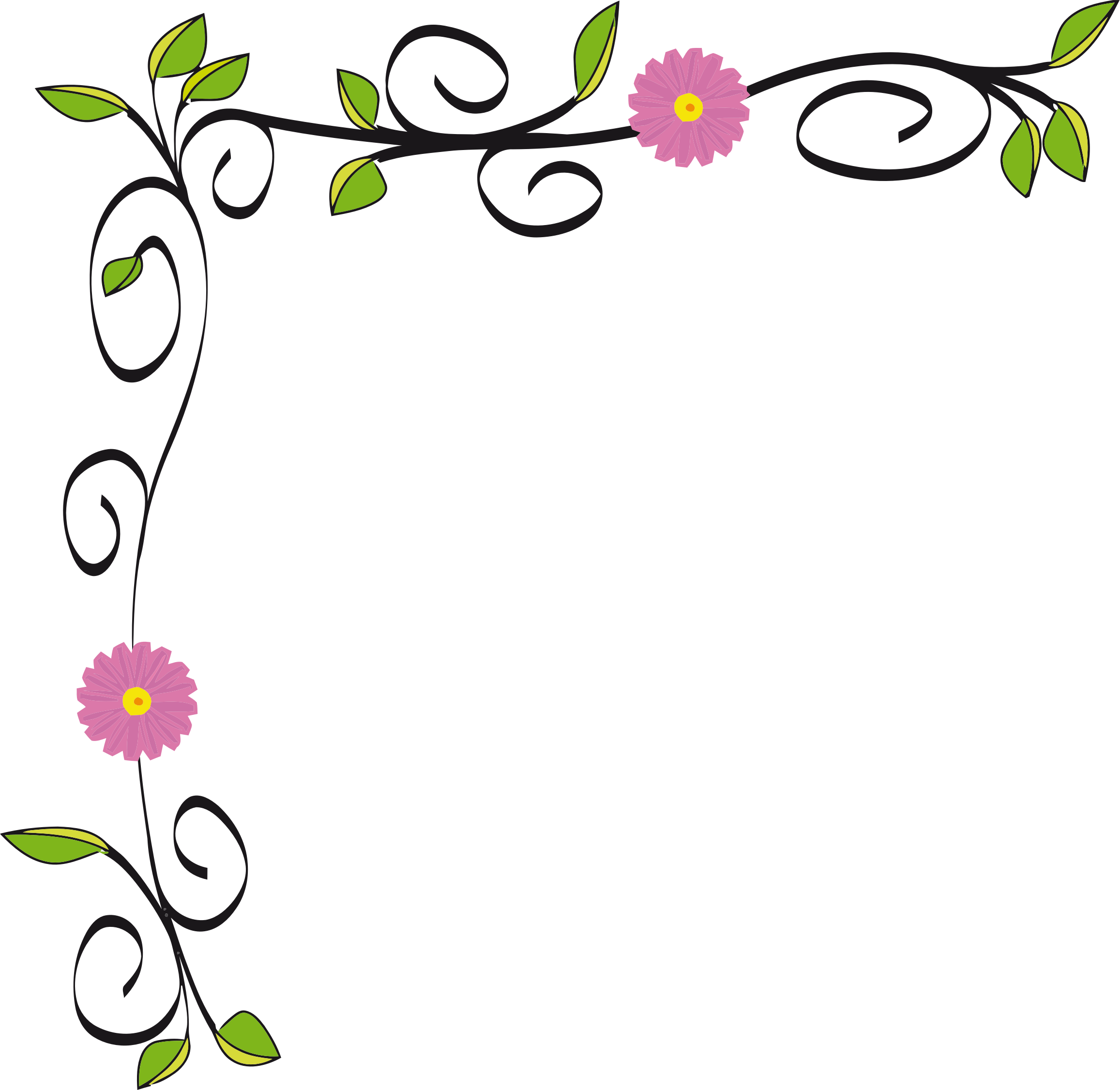Floral Border Vectorized by GDJ.
