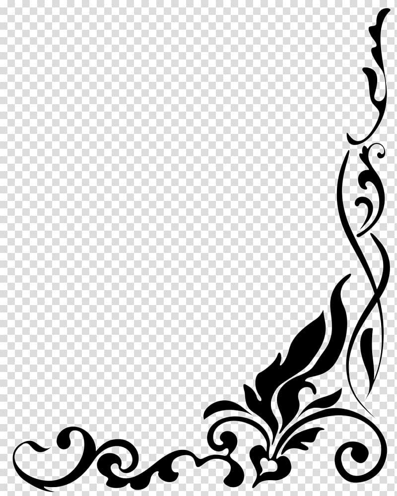 Black frame illustration, Drawing , Border Designs transparent.