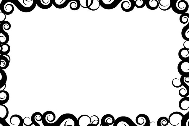 Free Border Design Black And White Tribal, Download Free Clip Art.