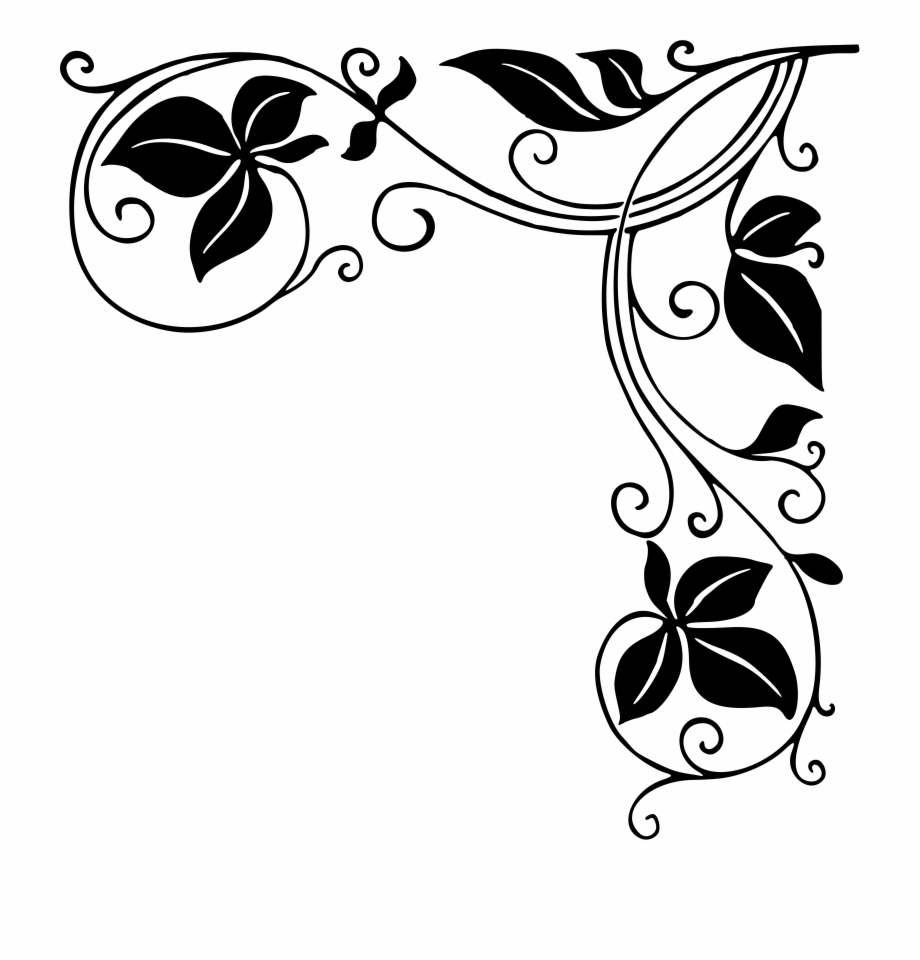 Border Design Clipart Black And White 20 Free Cliparts
